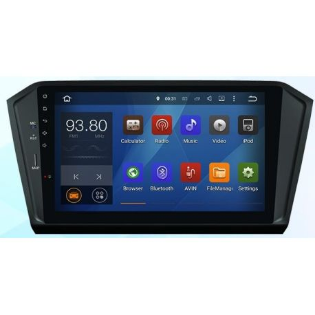 Auto Rádio Android VW Passat 2016 GPS USB Bluetooth