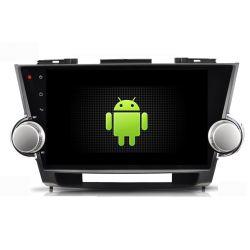 Auto Rádio Toyoya  Highlander 2009 a 2014 GPS DVD Bluetooth Android