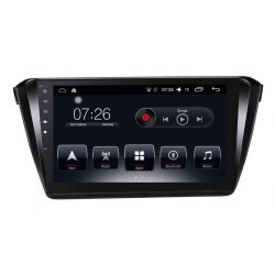 Auto Rádio Skoda Superb 2016 2017 2018 GPS Bluetooth USB Android