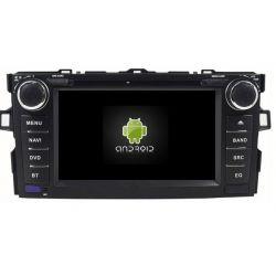 Auto Rádio Toyota Auris GPS Bluetooth DVD Android 2007 2008 2009 2010 2011 2012