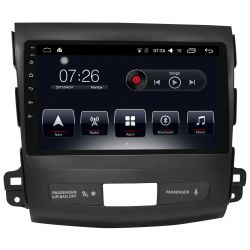 Auto Rádio Mitsubishi Outlander 2007 a 2014 GPS Bluetooth USB Android