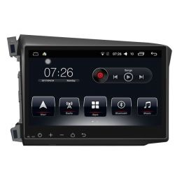 Auto Rádio Honda Civic 2012 2013 2014 2015 GPS Bluetooth USB Android