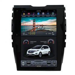Auto Rádio Ford Edge GPS Bluetooth USB Multimédia Android Tipo Tesla 2015 2016 2017 2018