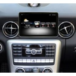 Multimédia Android Mercedes Benz SLK com GPS UBS Bluetooth 2010, 2011, 2012, 2013, 2014 e 2015 com NTG 4.5