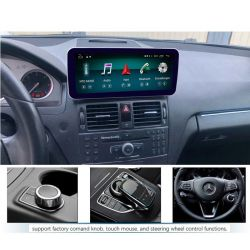 "Multimédia Android Mercedes W204 com monitor 10,25"" de 2007 2008 2009 2010 GPS USB Bluetooth NTG 4.0"