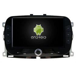 Auto Rádio Fiat 500 Android GPS Bluetooth USB 2016 2017 2018 2019