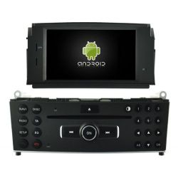 Auto Rádio Mercedes Classe C W204 GPS DVD Bluetooth 2007 2008 2009 2010 2011 Android