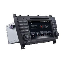 Auto Rádio Mercedes Benz W203 Classe C, CLK e CLC GPS DVD Bluetooth Android