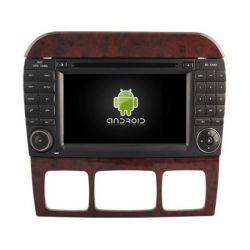 Auto Rádio Mercedes Benz Classe S W220 GPS DVD Bluetooth Android