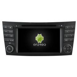 Auto Rádio GPS DVD Bluetooth Mercedes Benz W211 Classe E e CLS C219 Android